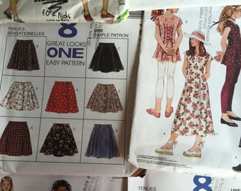 McCalls/Butterick Girls/Tween Wardrobe Sewing pattern bundle. M 4191, M 7155, M 7693, M 7778, M 7841, M 7845, M 8533, B 3095, B 6395