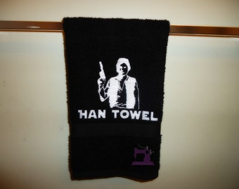Han Towel embroidered Hand Towel - Custom Made to Order