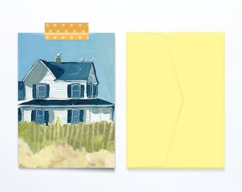 Haus am Meer-Ferien-Grußkarte