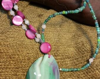 Minty Shells Necklace