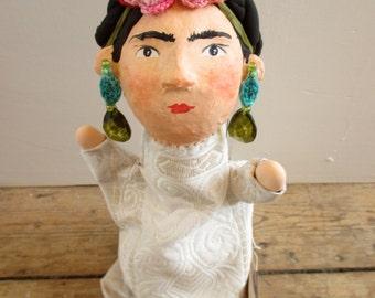 Frida Kalho hand-puppet