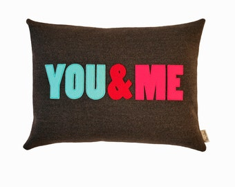 You & Me Cushion,valentine,wedding,engagement,anniversary