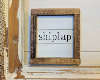 Rustic Farmhouse inspired 'shiplap' ultra mini shiplap sign