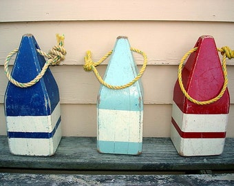 Large Vintage style Wooden Lobster Buoy