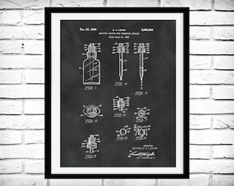 1960 Medicine Dropper Patent Print - Poster - Medical - Pharmacy Decor - Drug Measuring Dropper - Drug Store Decor - Pharmacist Gift