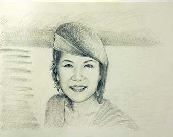 Custom Hand Drawn Portrait From Photos