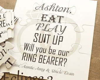 Ring Bearer, Will You Be Our Ring Bearer, Will you be our ring bearer puzzle, ring security, ring bearer card, ring bearer proposal, jigsaw