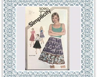 Simplicity 5090 (1981) Misses' full and half-circle skirts - Vintage Uncut Sewing Pattern