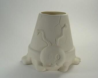 Ladybug Pot Planter Ready to Paint Ceramic Bisque