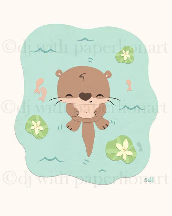 Otter Print 8x10