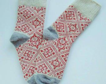 Wool socks Knit socks Ukrainian warm socks Woolen socks from Ukraine