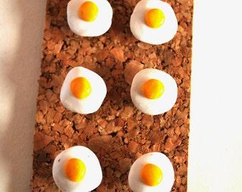Decorative Pushpins, Home Decor, Office Decor, Thumbtacks, Thumb tacks, Push pins, Pushpins, Egg Pushpins, Fried Egg Thumbtacks