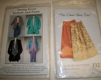 Swing Fever Jacket & Pants Sewing Pattern...CNT Pattern Co...And...The Omni Skirt Two..Color Me Patterns...