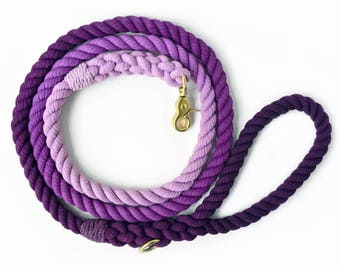 Purple Ombré Rope Dog Leash