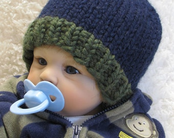 Knitting Pattern - POM-POM Baby Hat - PDF - 3 Sizes