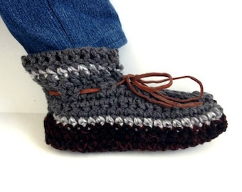 CROCHET SLIPPERS PATTERN, Men's slippers,  easy pattern, gift for him, boyfriend, father, dad, husband, brother, #CH31