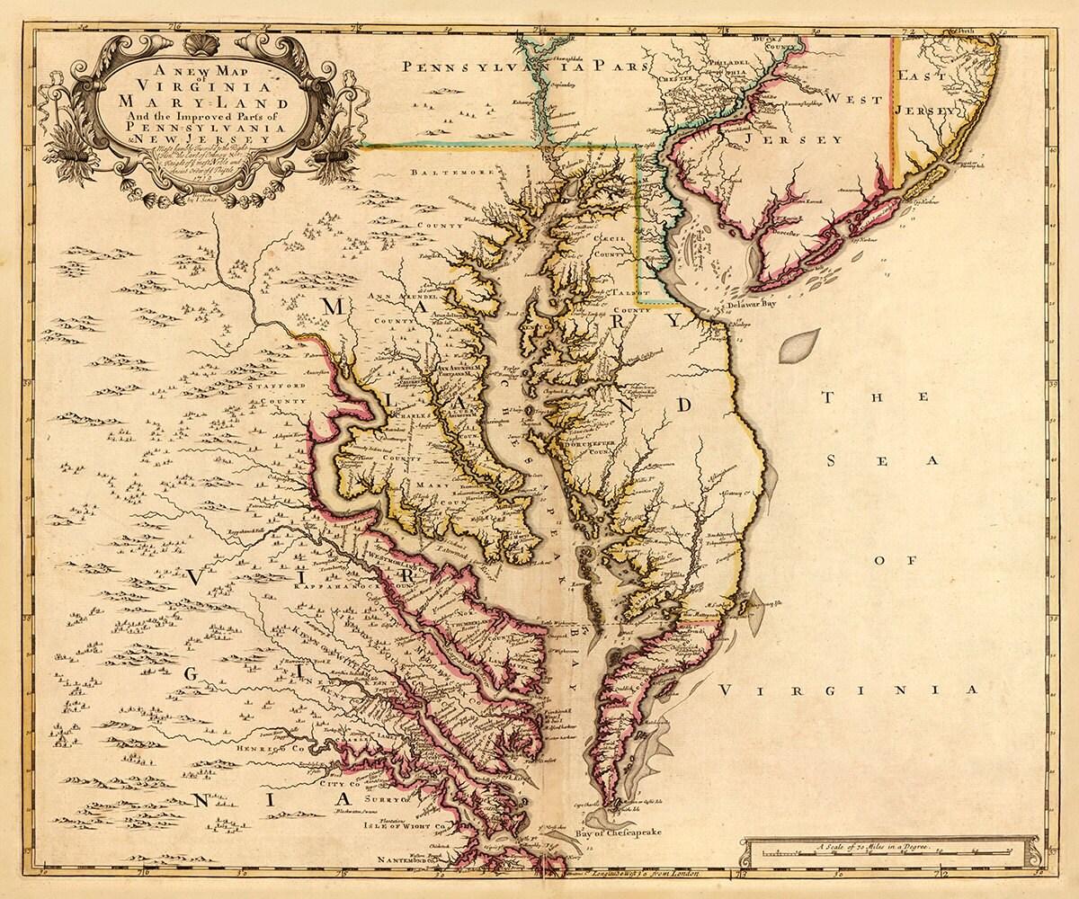🔎zoom.  map of chesapeake bay