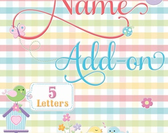 Name Add-on (5 Letters)