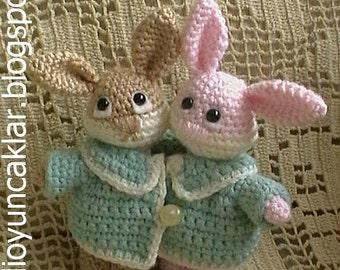 Amigurumi Valentine Bunnies Pattern