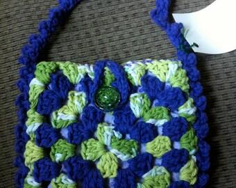 Crocheted Granny Square Purse #143