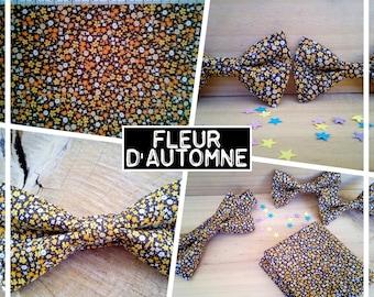 """Bow tie collection """"Autumn flower"""" liberty orange brown flower men/teen/child/baby"""
