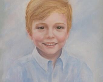 CUSTOM Pastel Portrait - boy