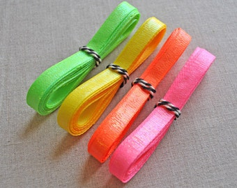 Neon shimmer ribbons - choose your colour - 3m