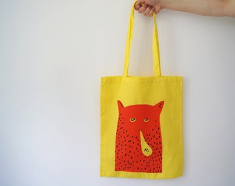 HI Cat Man Tote Bag