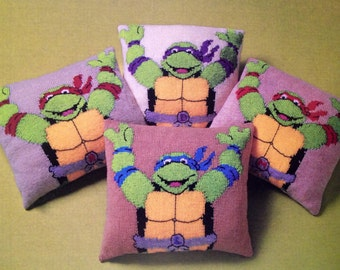 turtles cushions dk knitting pattern 99p