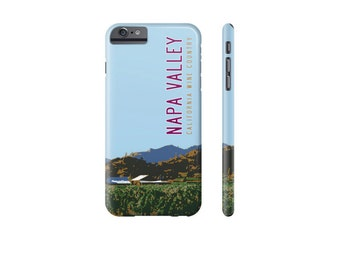 NAPA VALLEY iPhone X Case, iPhone 7 Cover, iPhone 6 Cover, Samsung Galaxy s7 Cover, Travel Poster, Wine Lover Gift, Designer iPhone Cases.
