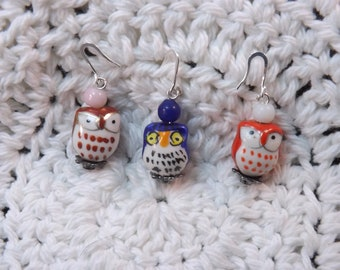 Cute Porcelain Owls Stitch Markers