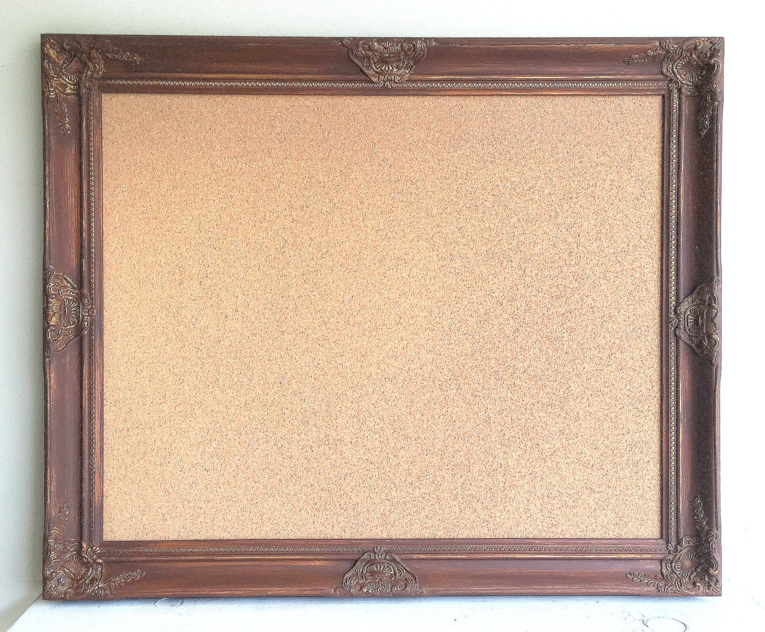 Espresso Brown CORK BOARD Decorative Corkboard Framed Cork