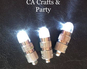 LED mini party flashlights for  balloons and lanterns 12 PCS- white  LED balloon lights- Lantern lights- wedding and party decorations.