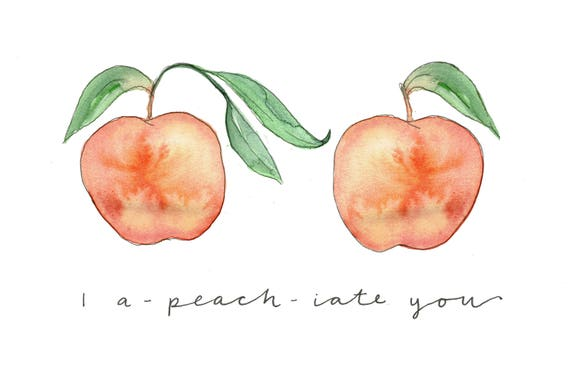 Encouraging greetings card i a peach iate you encouraging greetings card i a peach iate you watercolour peaches love you card hand painted design blank inside m4hsunfo