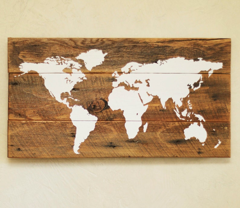 Wood world map s push pin travel map reclaimed wood wall zoom gumiabroncs Gallery
