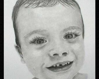 """5x7"""" Graphite Pencil Portrait"""