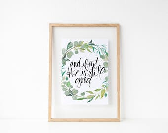 And if not he is still good calligraphy print
