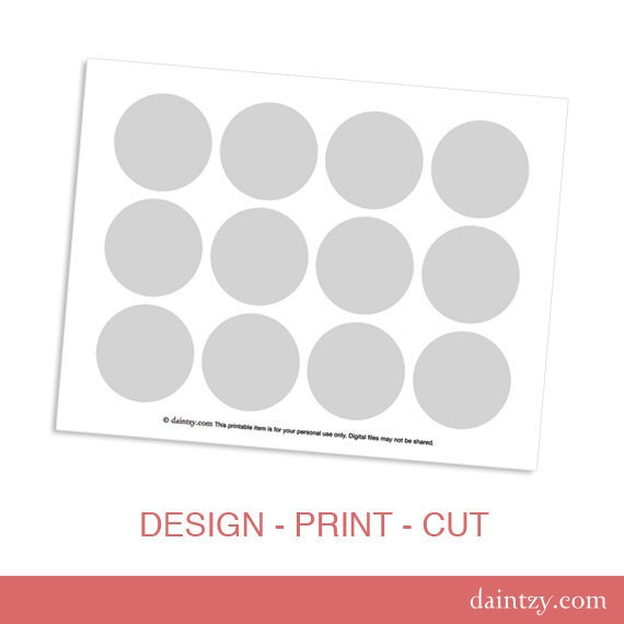 Instant download cupcake topper printable template diy make instant download cupcake topper printable template diy make your own party circles design template by daintzy pronofoot35fo Image collections