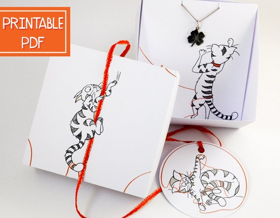 Paper Christmas Jewelry Box | DIY Cat Lover Gift| Printable Jewelry ...