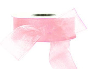 Light Pink Sheer Ribbon    (10-##-S-130)