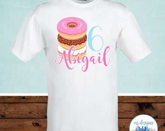 Donut Birthday Shirt, Donut Iron On Transfer Image, Donut Birthday Party, Doughnut Shirt