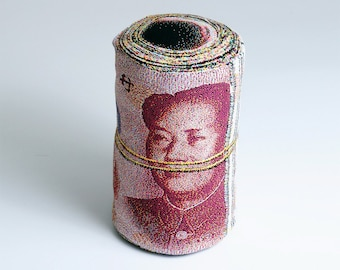 Rolled Banknote Shape Pillow, Renminbi - Free shipping world-wide