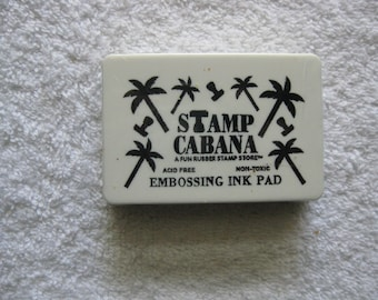 STAMP CABANA Embossing Ink Pad Clear New Condition