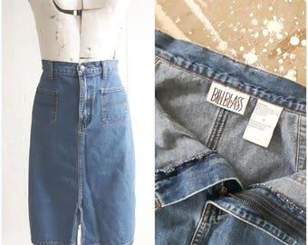 Vintage BILL BLASS jean skirt, Denim skirt, size 10/12