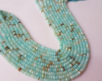 Peruvian Opal Faceted Rondelles 4-4.5mmmm size, Super Quality , Natural peruvian Opal beads