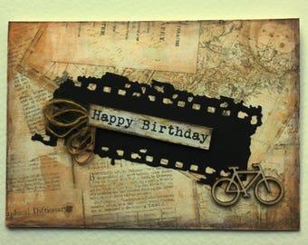 HAPPY BIRTHDAY - Handmade Card