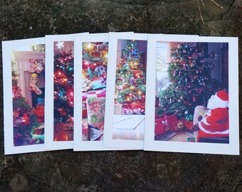 Blank Christmas Cards, Blank Card Set, Holiday Card Set, Pack of Xmas Cards, Stockings, Christmas Tree, Photo Card Set, Original Photography