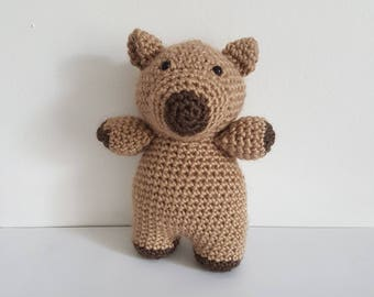Wombat Toy, Crochet Wombat, Soft Wombat Toy, Australian Animal Toy Wombat, Handmade Crochet Wombat, Amigurumi Wombat - MADE TO ORDER