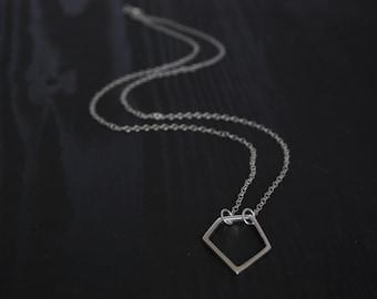 Small Geometric Sterling Silver Pendant
