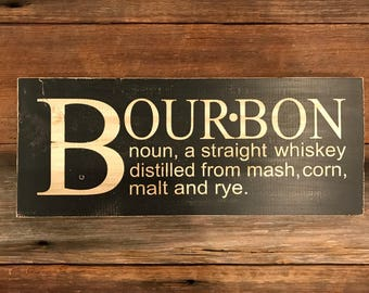 Bourbon Wood Sign